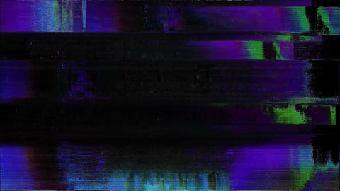 Focused Noise Glitch Tv Bad Signal Effect Animation