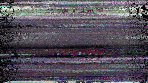 Fiesta Digital Animation. Pixel Noise Glitch Error Video Damage Animation