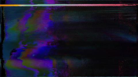 Glitch. Computer Screen Error. No Signal Village Animation