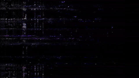Instant Old TV Glitch Color Disturbances On A Black Background Animation