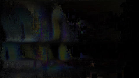 Oriental Noise On TV Screen. Analog TV Signal With Bad Interferenc Animation