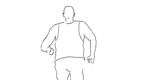 Marathon Runner Running Rear Drawing 2D Animation Animation
