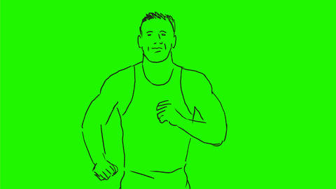Marathon Runner Running Front Drawing 2D Animation Animation