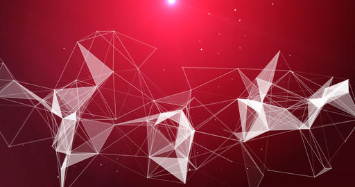 Motion Loop Background Abstract Dynamic Plexus Futuristic Technology. 3d render Animation