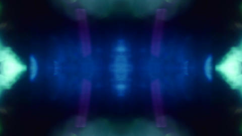Light transformations in cold tones, nostalgic psychedelic iridescent background Footage