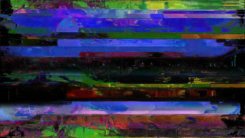 Promo Digital Old Tv Screen Glitch Interference Animation Animation