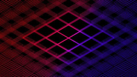 Abstract line 3D virtual isometric square lighting moving, Blockchain technology network digital Animation