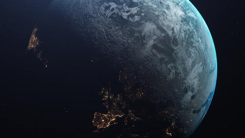 The Earth from space Europa lights Live Action