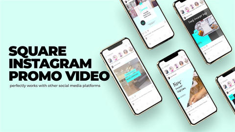 Instagram Square Slideshow After Effects Template