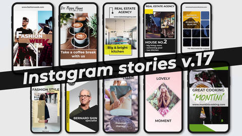 Instagram Stories v 17 After Effects Template