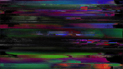 Productivity Noise On TV Screen. Analog TV Signal With Bad Interferenc Animation