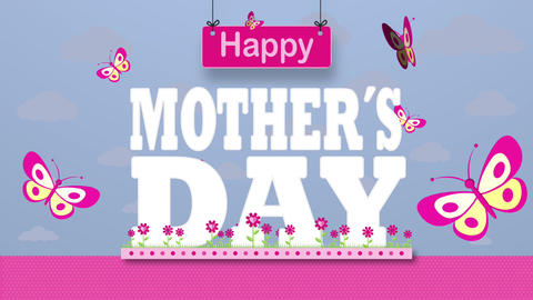 Happy Mothers Day Greeting Card Animation