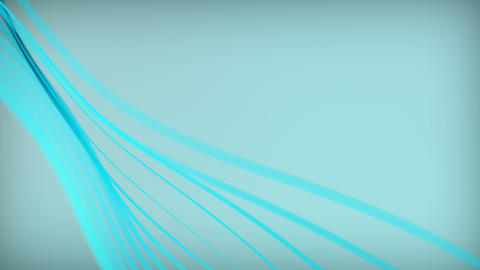 Abstract glowing strings background with depth of field. Ripple animation on surface. Smooth Animation