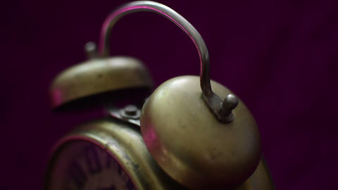 Old-Fashioned Alarm Clock Close-Up Footage