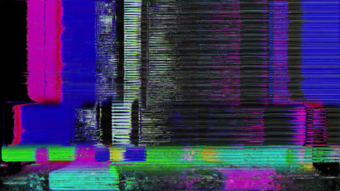 Propeller Smart TV Digital Glitch As Abstract Background Animation