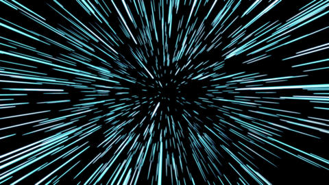 Hyperspace. Light Speed animation Animation