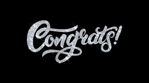 Congrats Blinking Text Wishes Particles Greetings, Invitation, Celebration Live Action