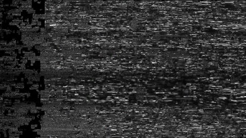 TopHat No Signal On Television Gltich Effect Animation