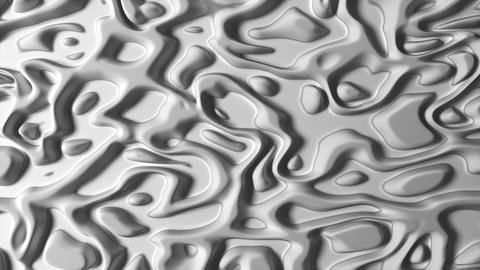 Abstract Liquid Surface pure White Animation