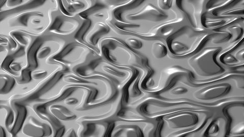 Abstract Liquid Surface White Chrome Animation