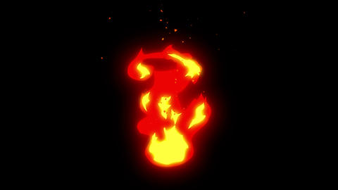 Fire animation, Manga style, Burning, Loop Animation