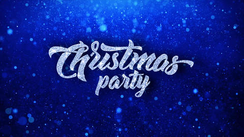 Christmas Party Blinking Text Wishes Particles Greetings, Invitation Footage