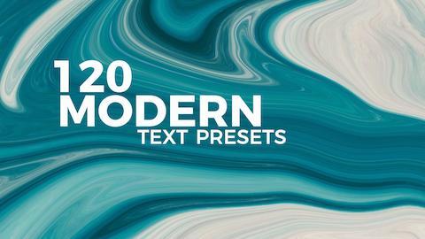 120 Modern Text Presets Premiere Pro Effect Preset
