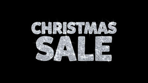 Christmas Sale Text Wishes Particles Greetings, Invitation, Celebration Live Action