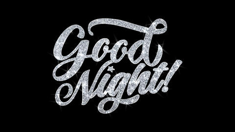 Good Night Blinking Text Wishes Particles Greetings, Invitation, Celebration Footage