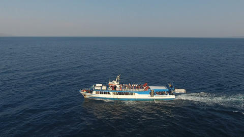 The Touristic Ferry Venus is Traveling during Summer 2 Live Action