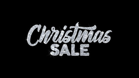 Christmas Sale Blinking Text Wishes Particles Greetings, Invitation, Celebration Live Action