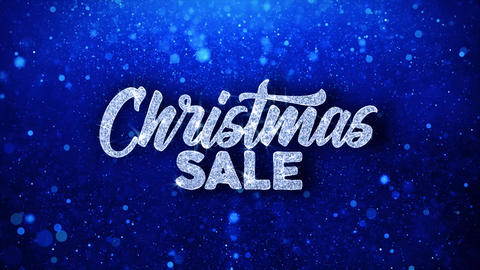 Christmas Sale Blue Text Wishes Particles Greetings, Invitation, Celebration Live Action