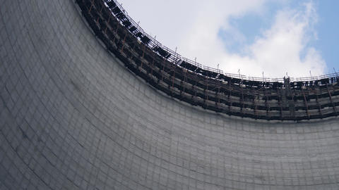 Cooling tower of Chernobyl Nuclear Power Station Footage