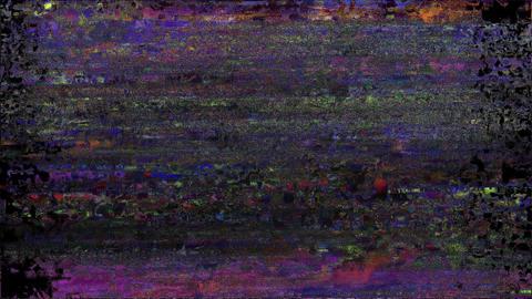 Reservoir Glitch. Computer Screen Error. No Signal Animation