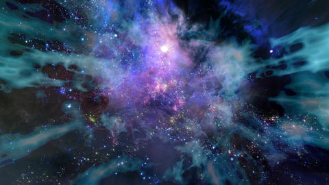 Space 2093: Traveling through a wormhole in deep space Animation