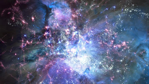 Space 2098: Traveling through star fields in deep space Animation