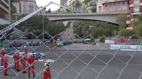 Fast Formula E Cars On Monaco E-Prix Footage