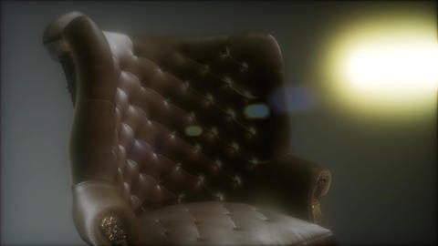 vintage leather armchair boss Footage