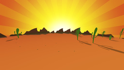 Orange Animated desert Footage