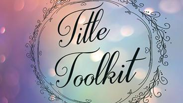 Title Toolkit stock footage