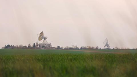 Observatory antennas center in Ukraine Footage