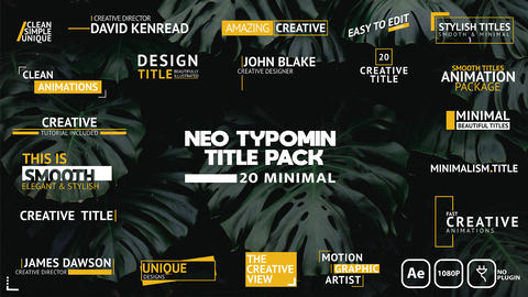 Neo Typomin Title Pack After Effects Template
