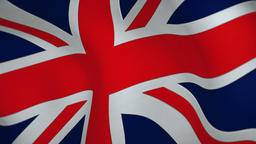 Official Flag of the United Kingdom Footage
