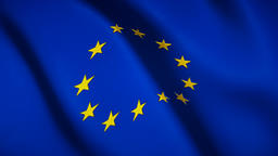 Flag of Europe seamless loop footage Live Action