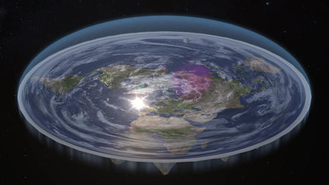 Flat Earth Diagram Animation Live Action