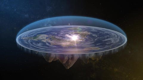Flat Earth Diagram Spin Loopable Live Action