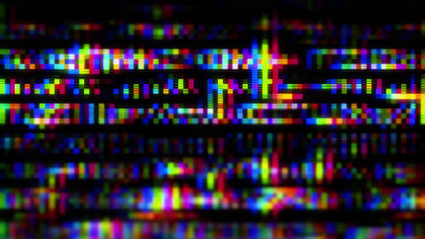 Data Glitch 007: Streaming data malfunction screen display Animation