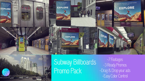 Subway Billboards Mockup Pack After Effectsテンプレート