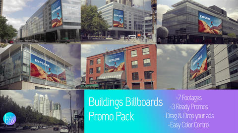 Buildings Billboards Mockup Pack After Effectsテンプレート