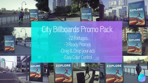 City Billboards Mockup Pack After Effects Template
